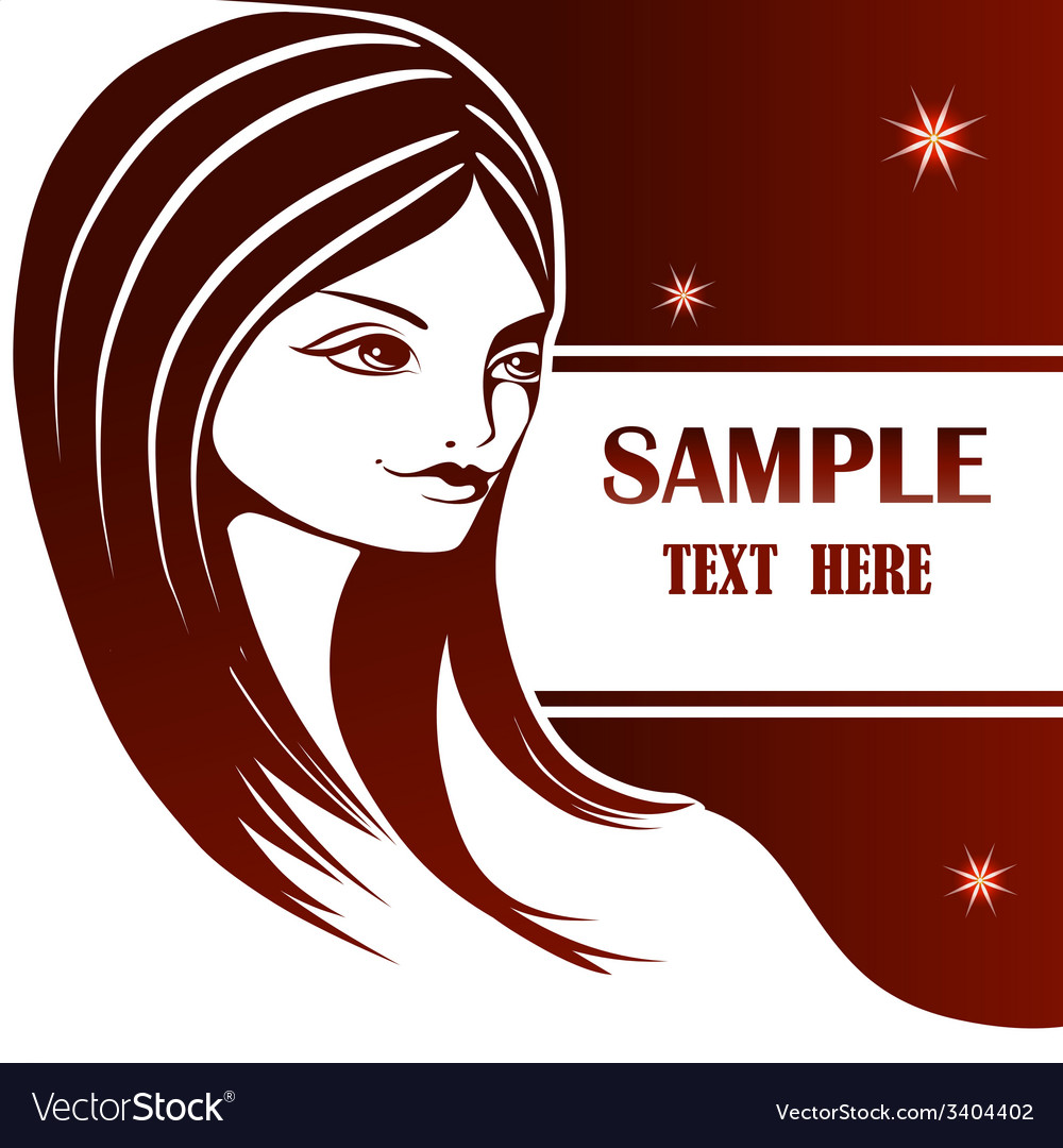 Graphic portrait of a young girl vector image