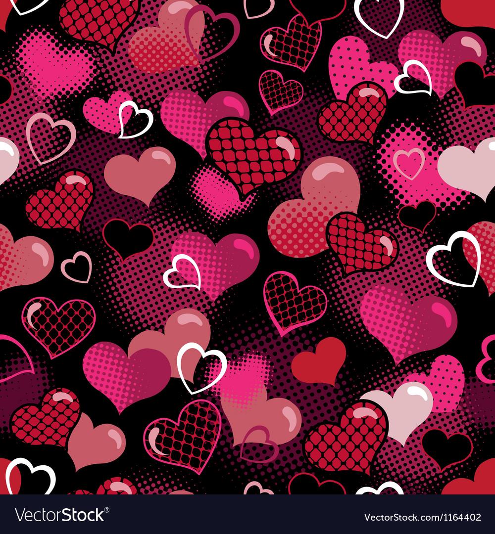 Hot valentine seamless background vector image