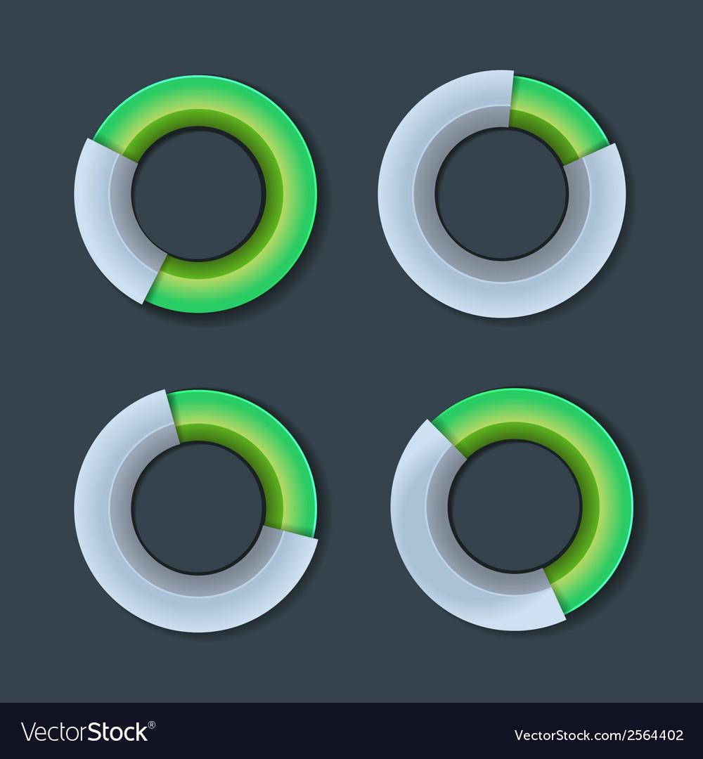 Infographic Chart Ring Diagram Set
