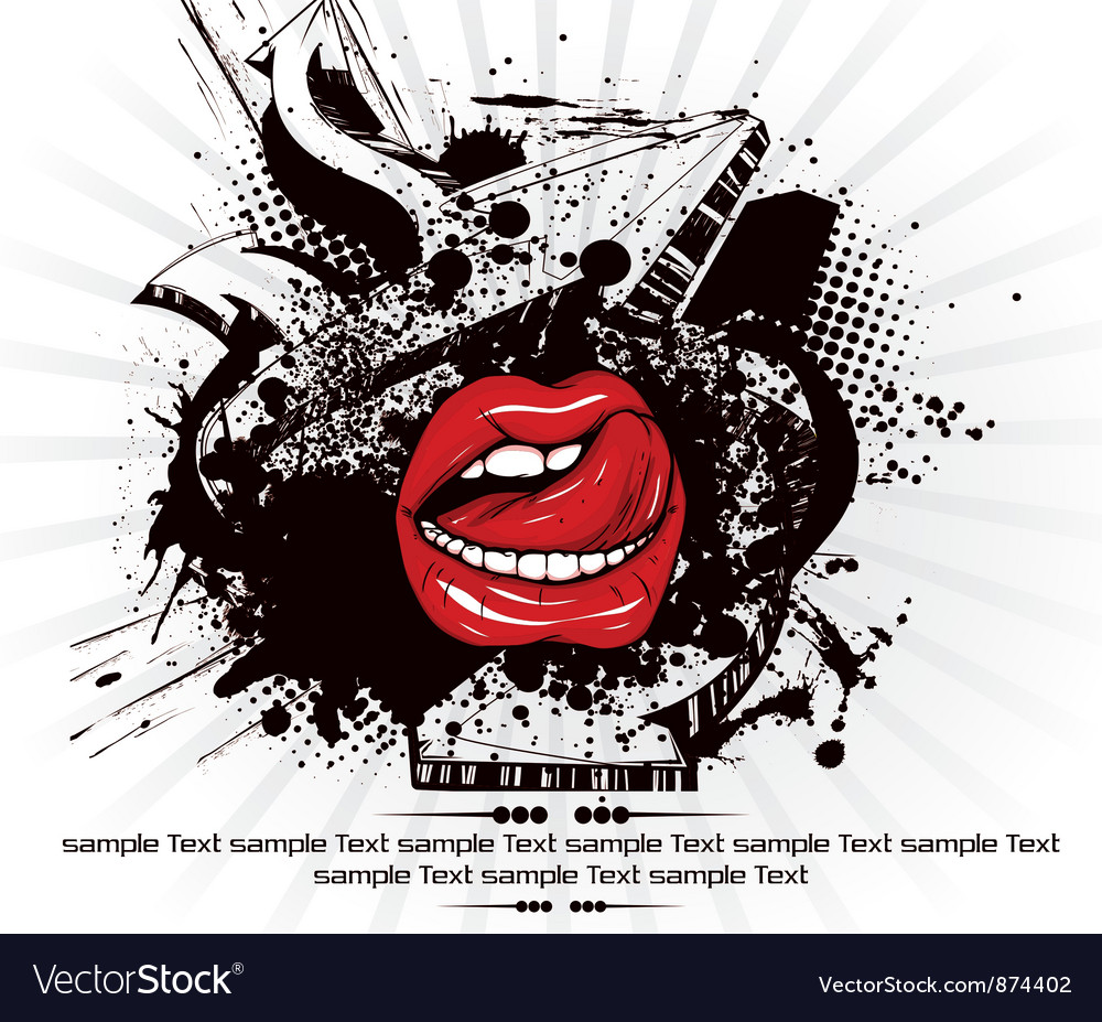 Mouth with grunge