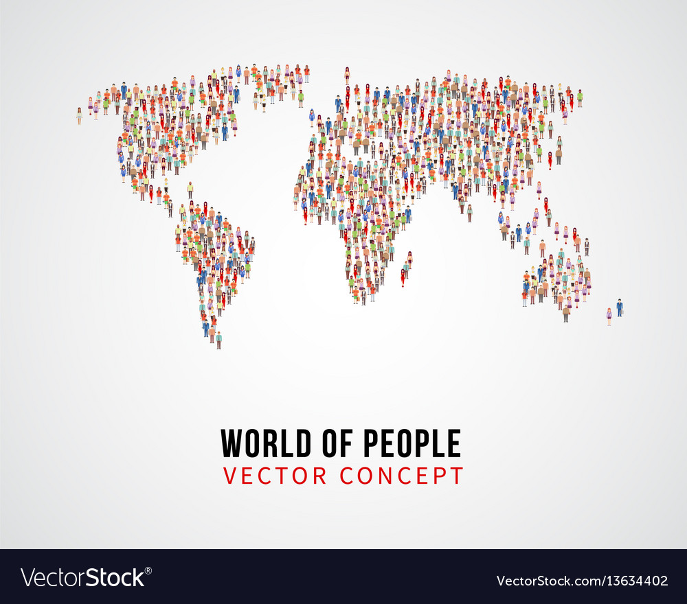 People global connection earth population on