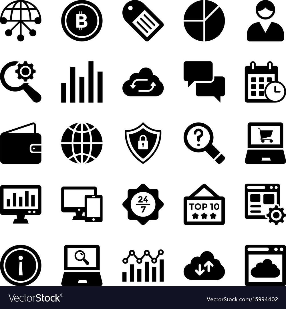 Seo and digital marketing glyph icons 8