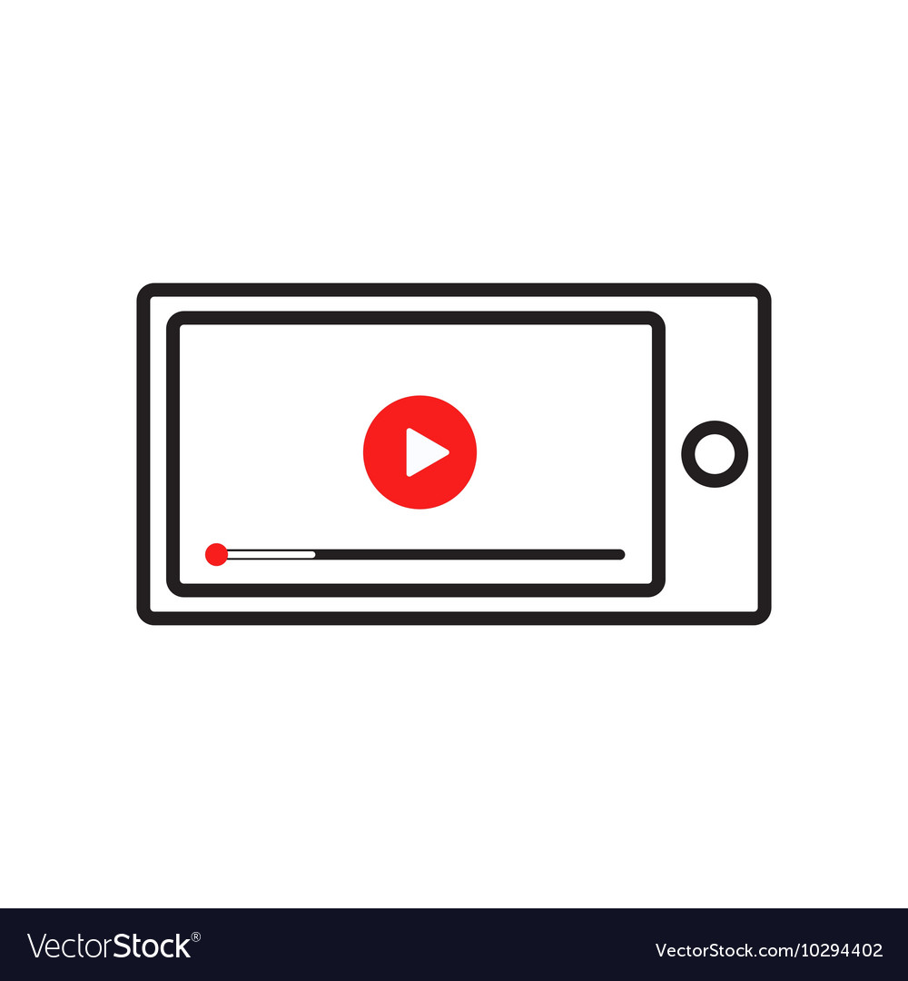 Smart phone with video player on the screen