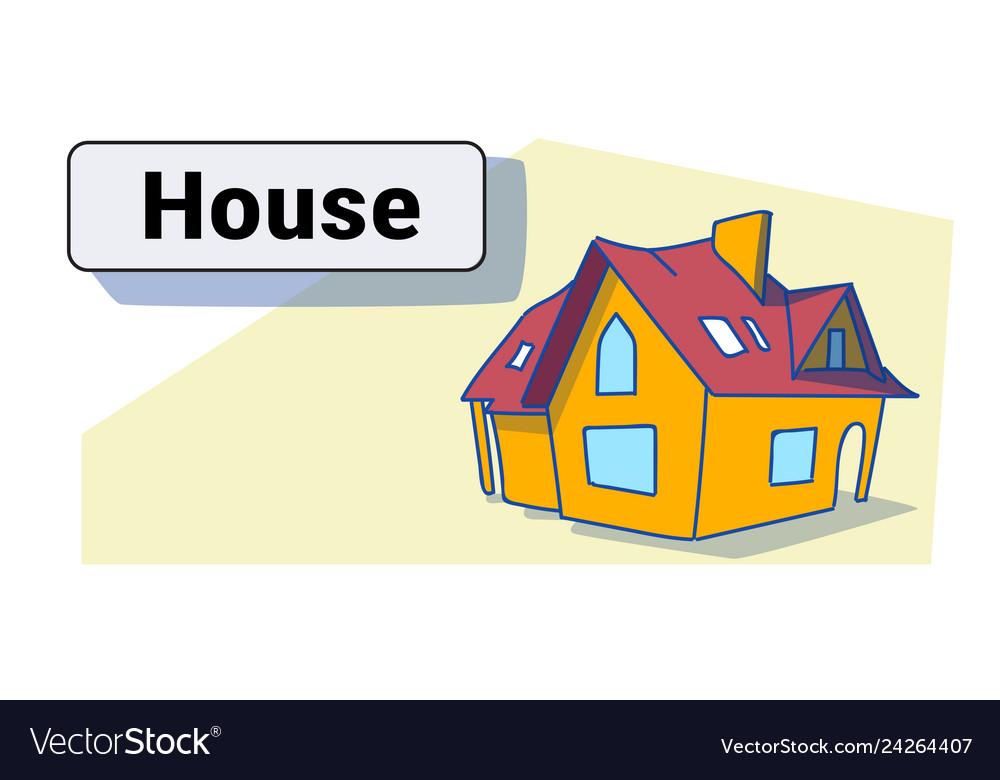 Big modern house residence estate new home