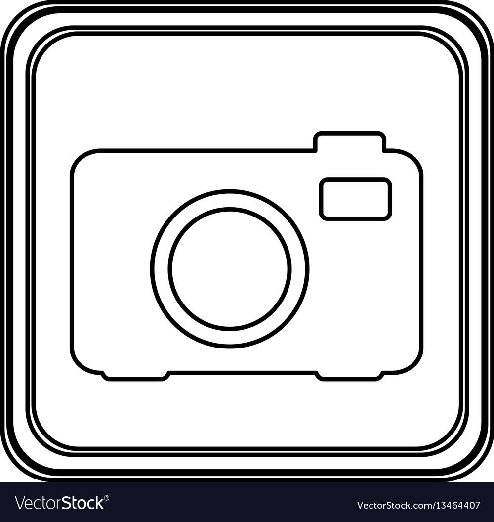 Figure emblem camera icon vector image
