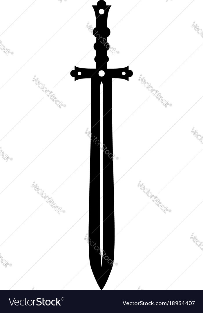 medieval sword royalty free vector image vectorstock rh vectorstock com sword vector illustrator sword vector art