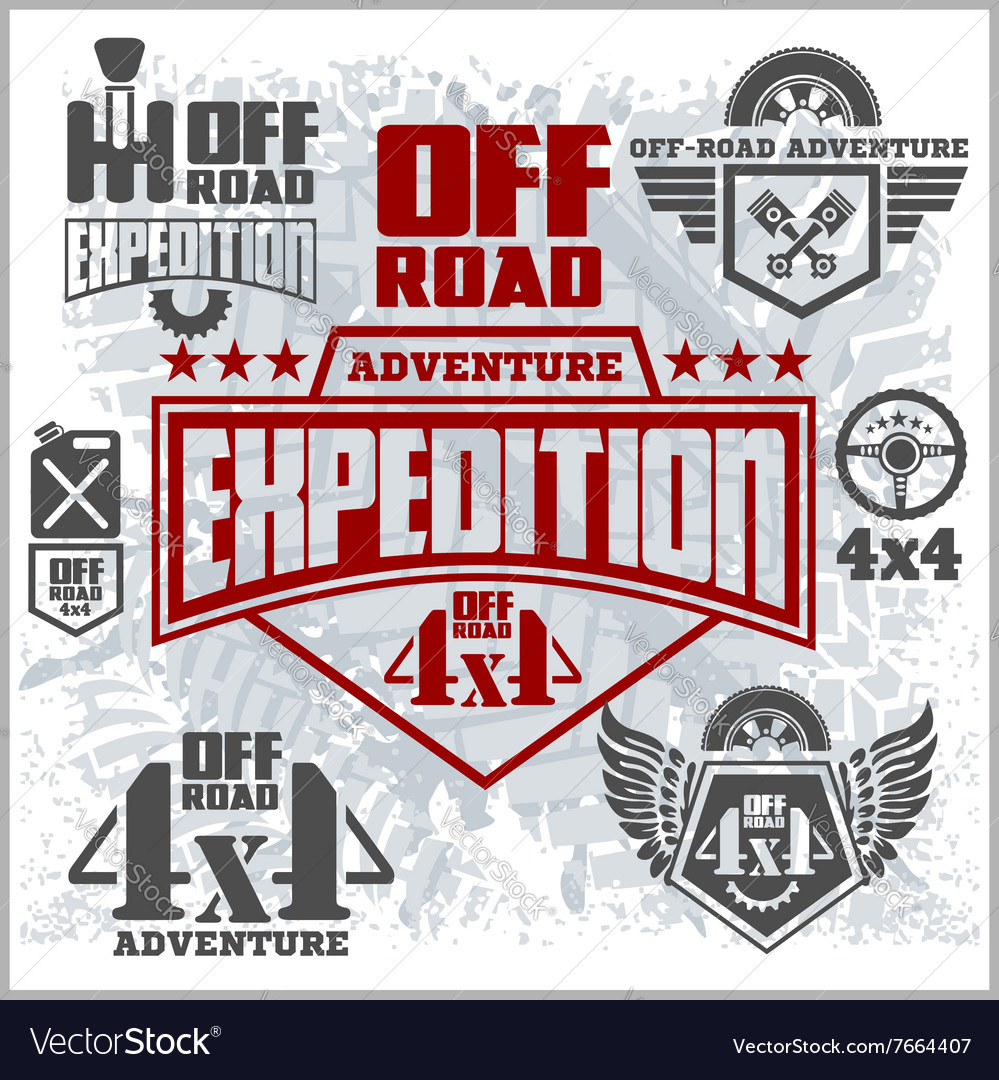 Off-road suv car emblems badges and icons Off