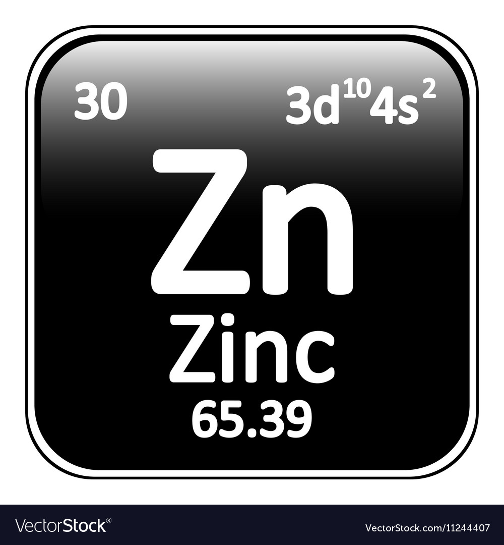 Periodic table element zinc icon vector image