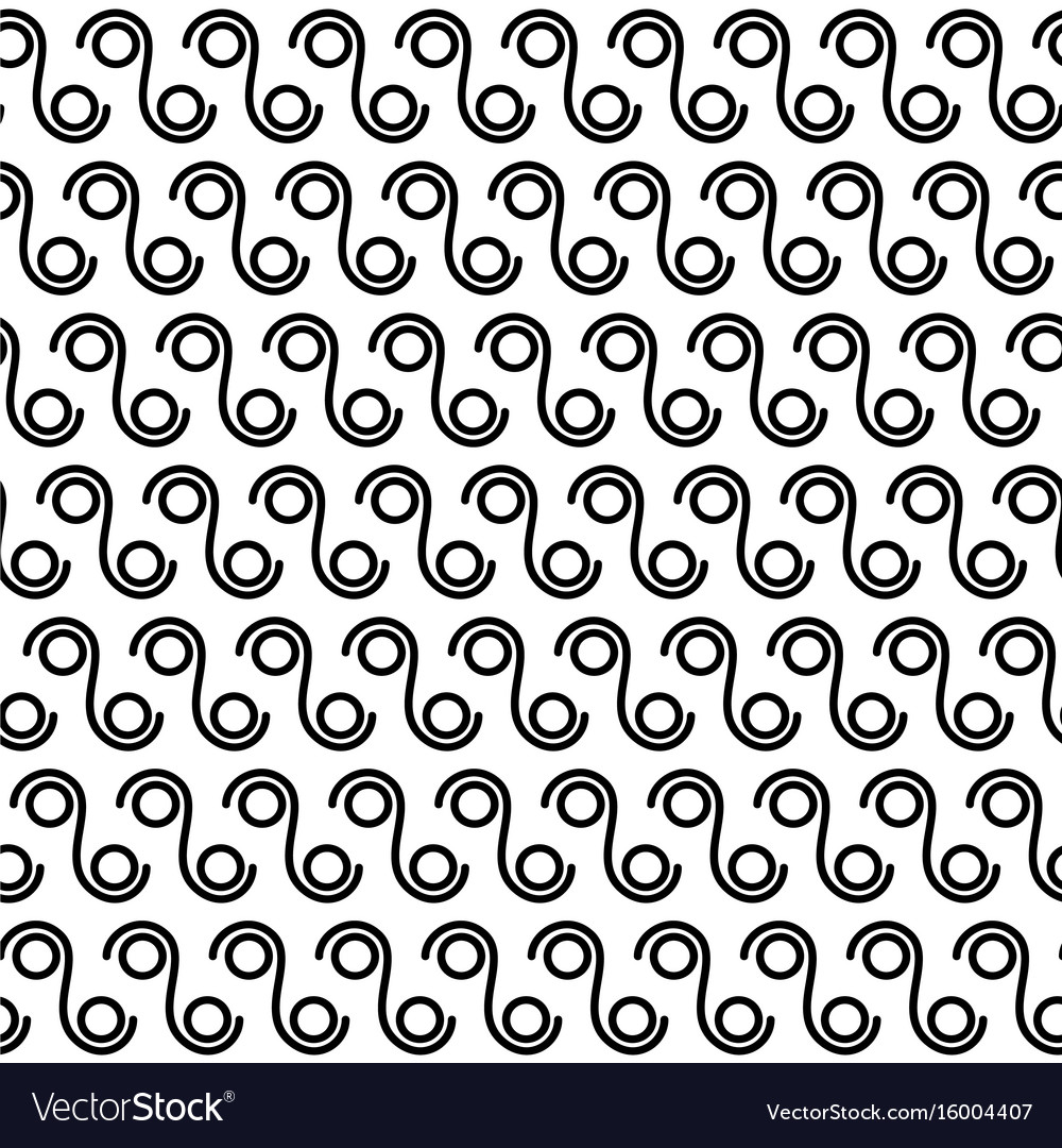 Seamless circles and lines pattern vector image