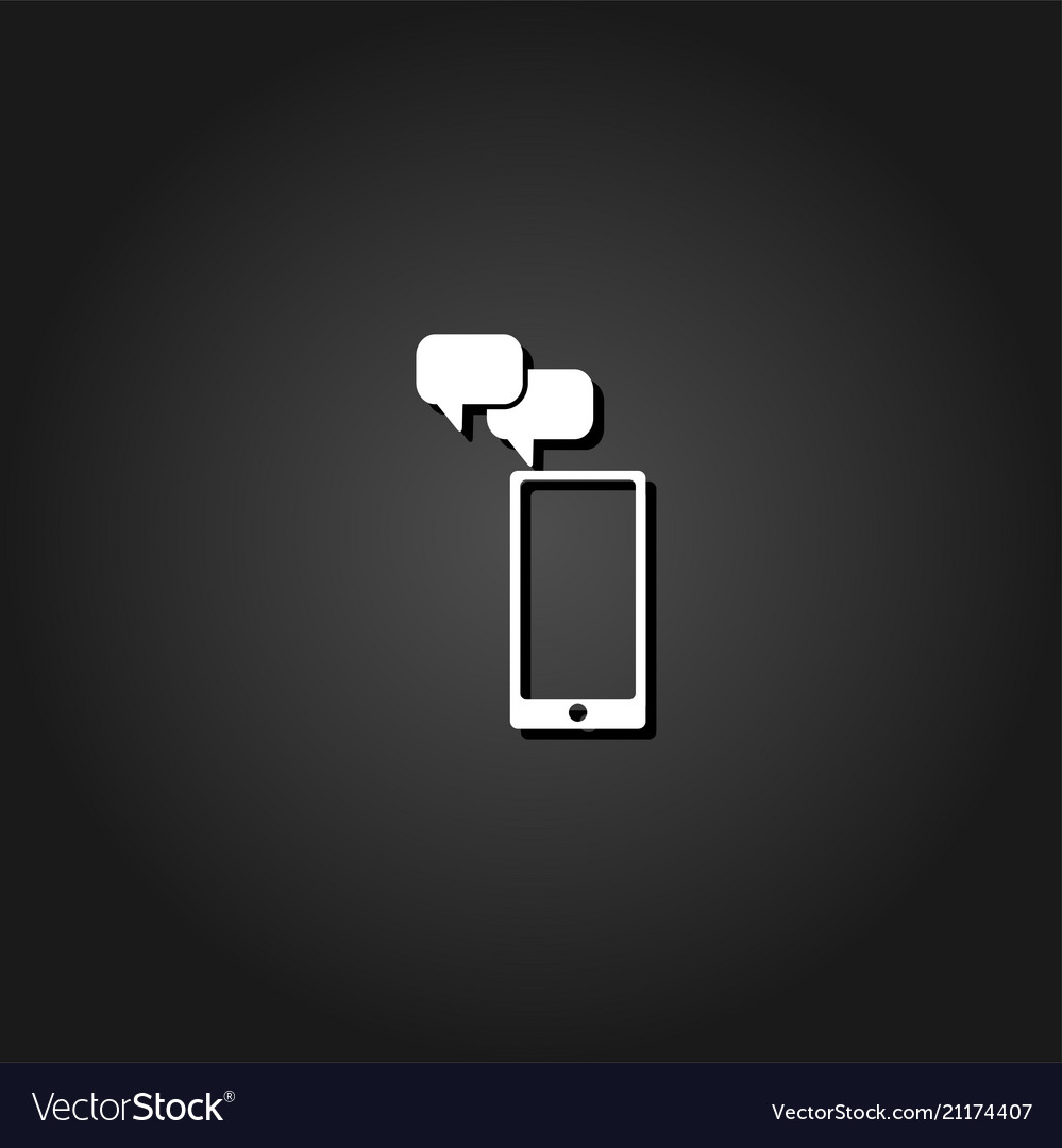 Smartphone message icon flat