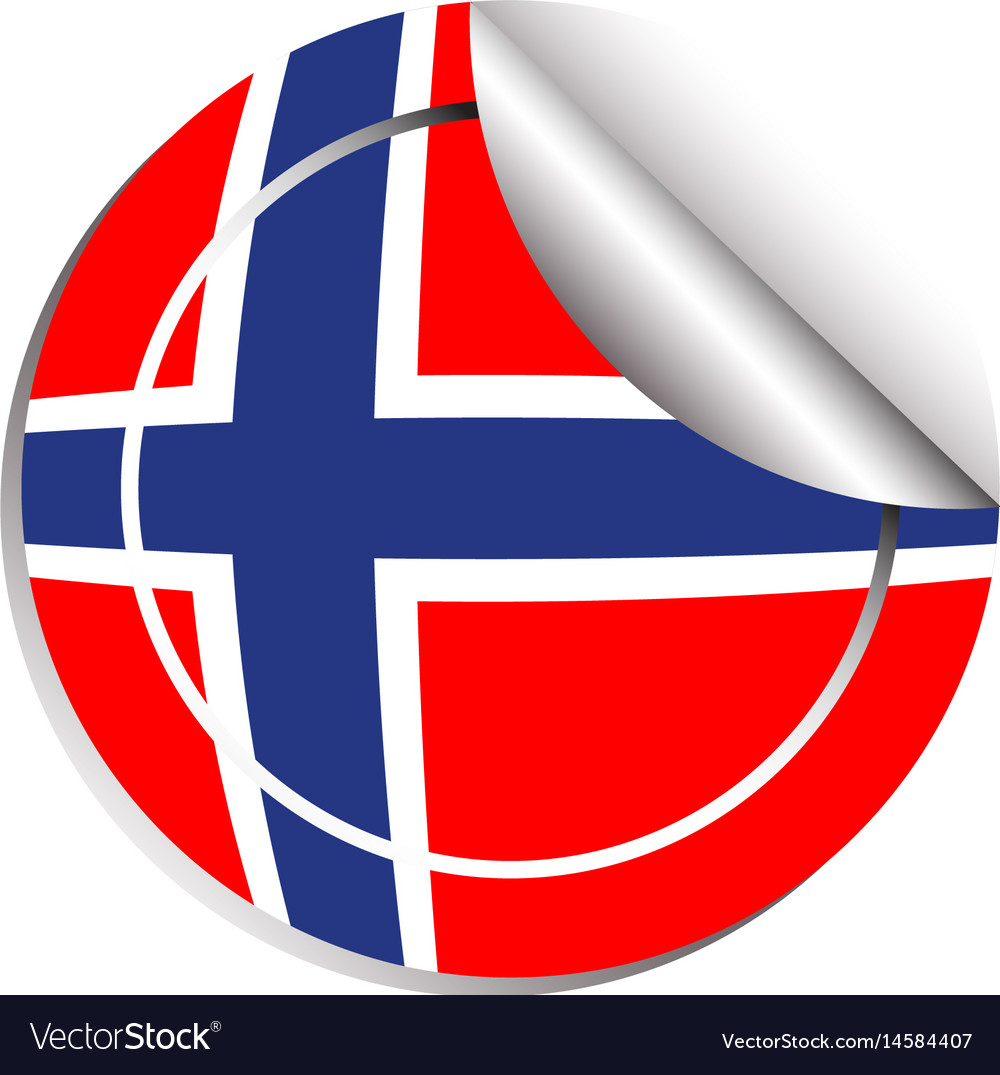 Sticker design for norway flag