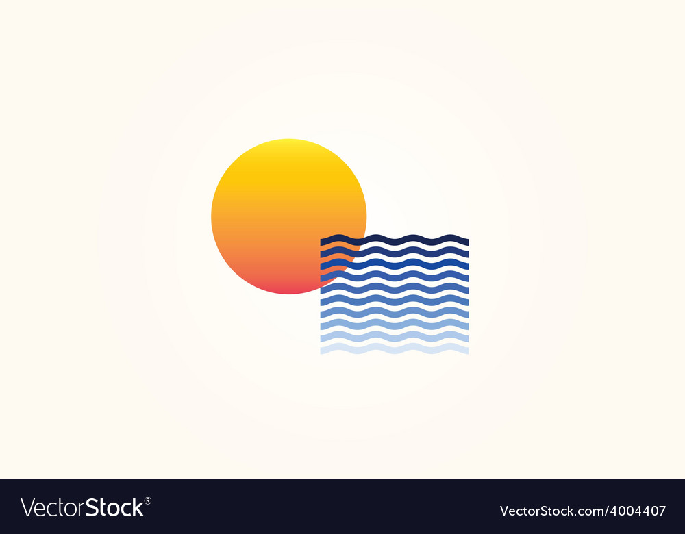Sun Sea vector image