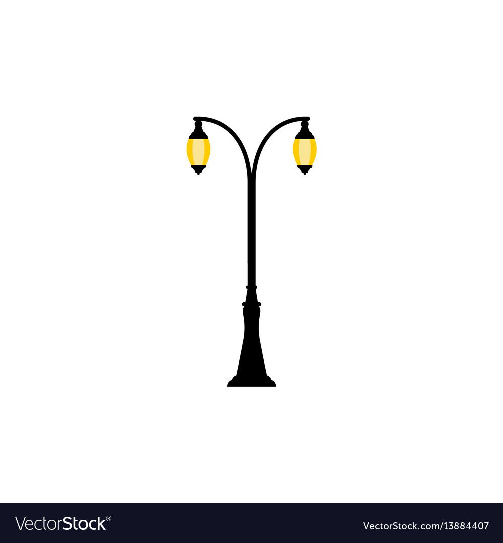 Vintage streetlight with two lamps