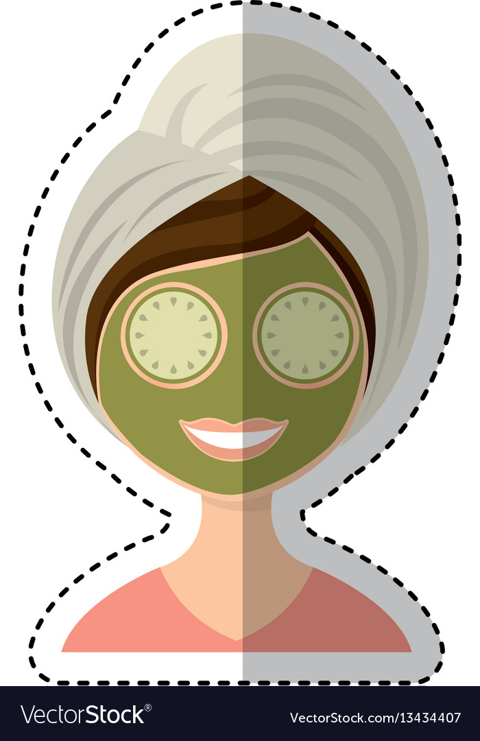Woman with towel spa vector image