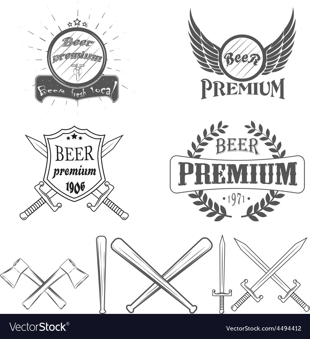 Beer lager premium logos and Images