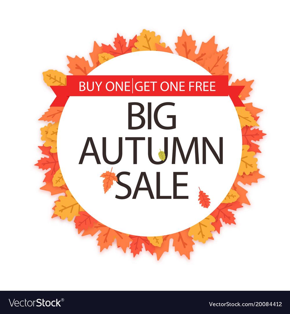 Big autumn sale buy one get one free maple leaf ci
