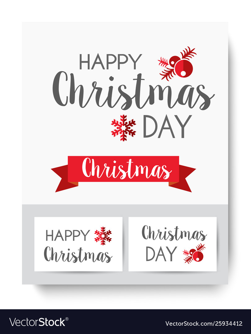 Lettering christmas card