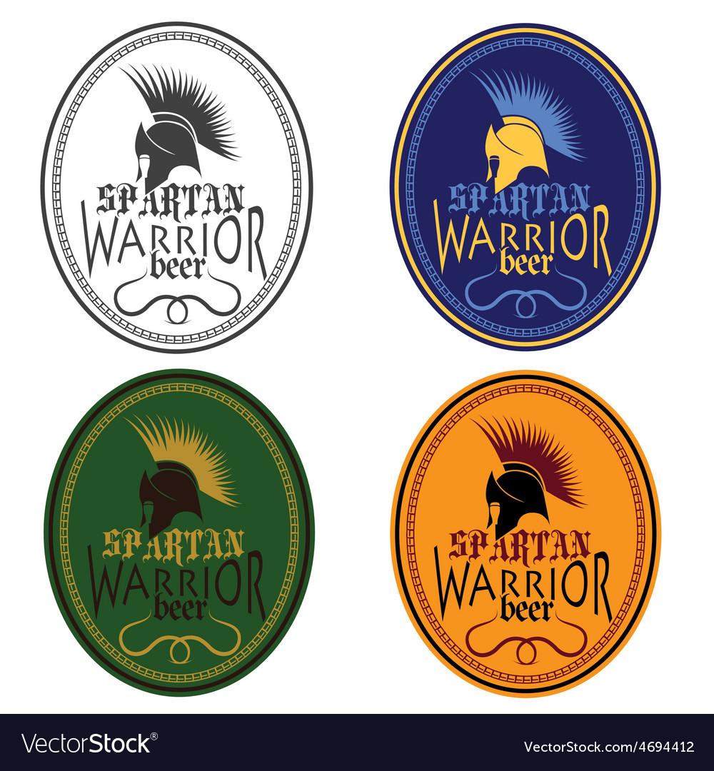 Old Vintage Antiques Spartan warrior beer bottle
