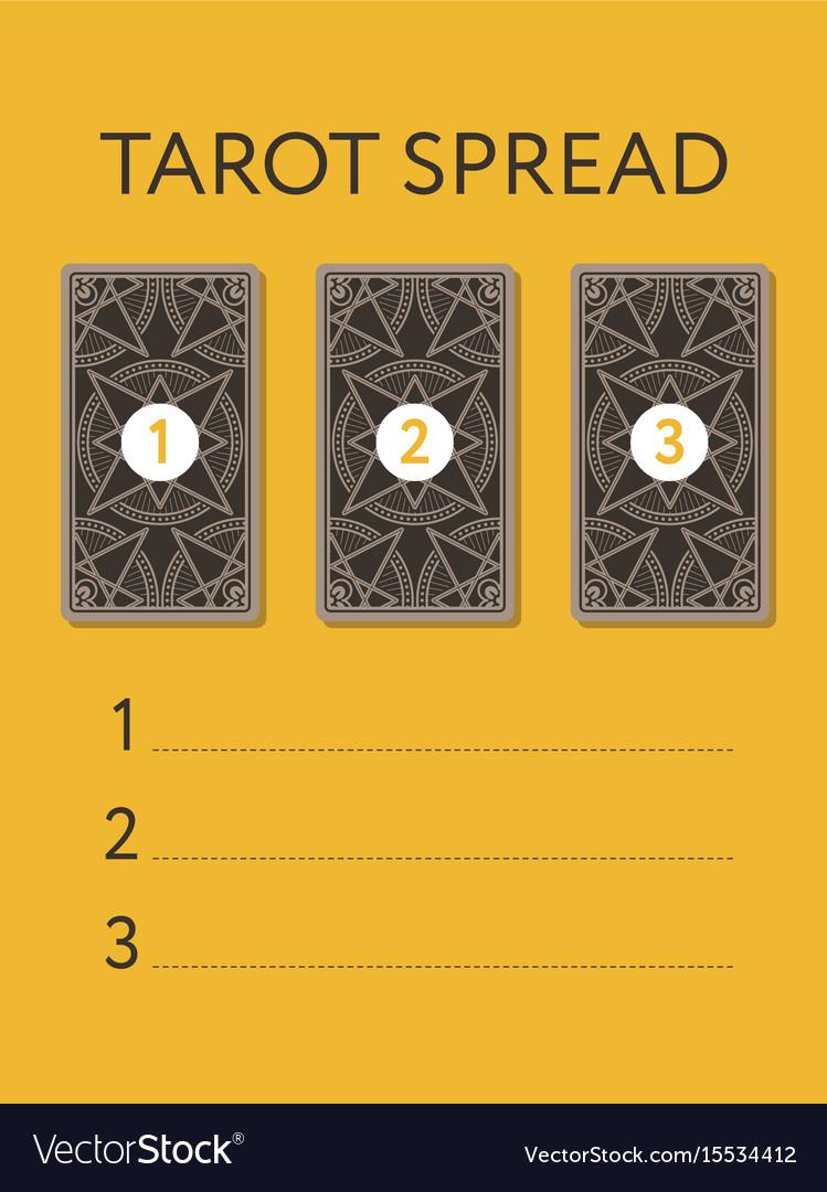 Template For Three Tarot Card Spread Royalty Free Vector - Tarot card template