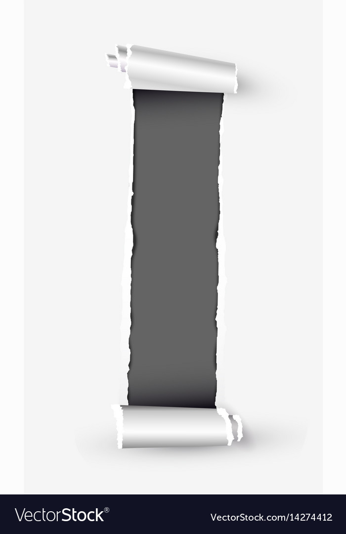 White torn paper scroll with space for text