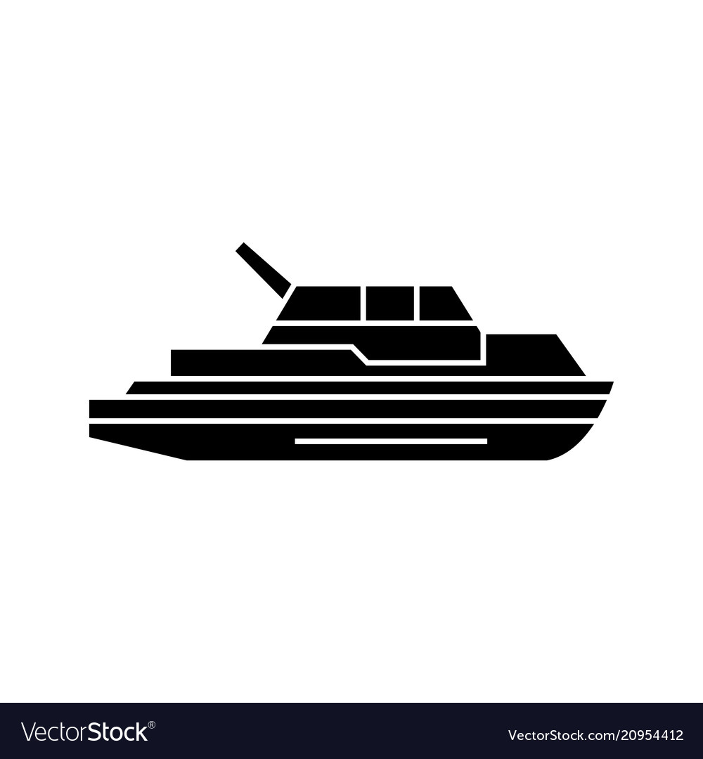 Yacht black icon concept yacht sig