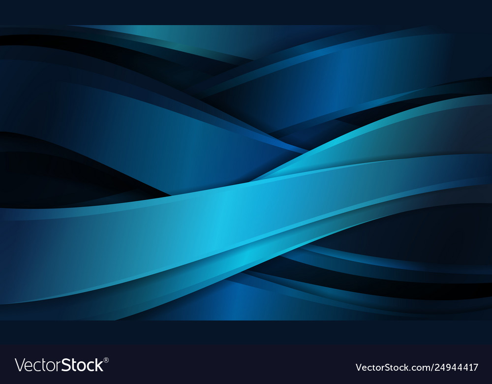 Abstract Blue Background With Curve Shapes Cross