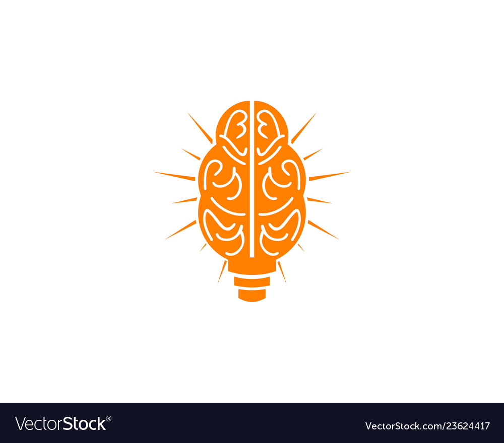 Brain bulb lamp logo smart idea download