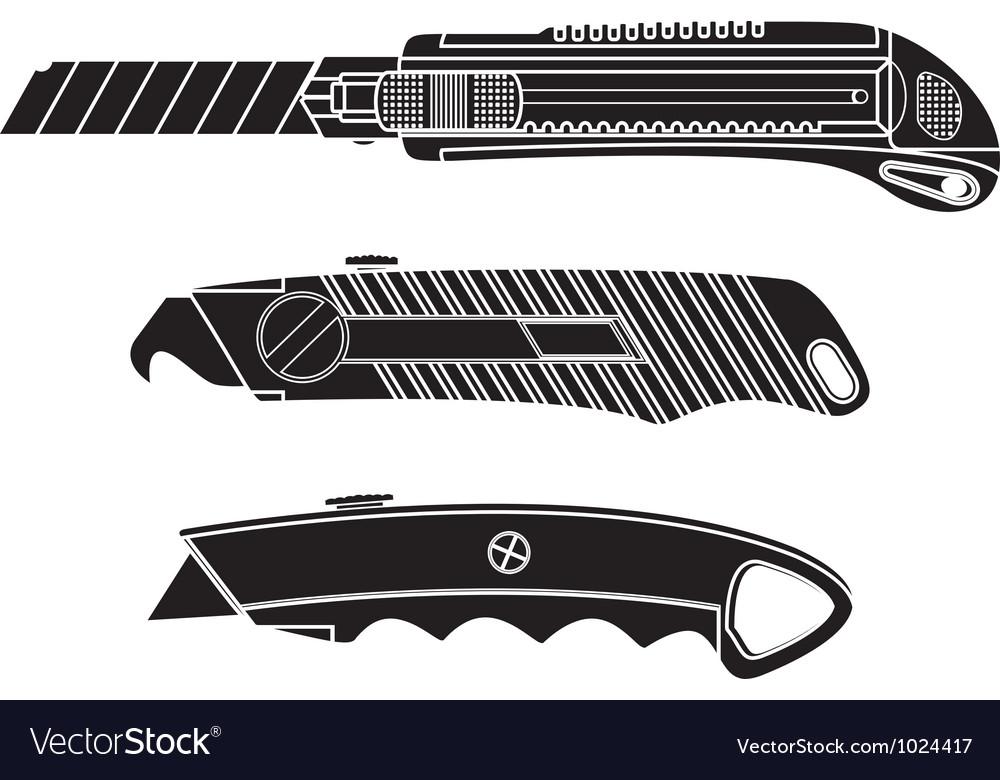 Cutter knifes stencil