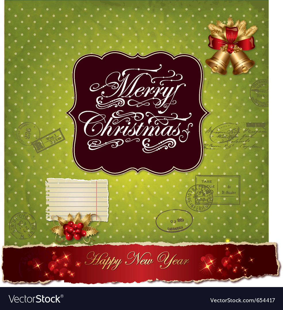Greeting christmas card