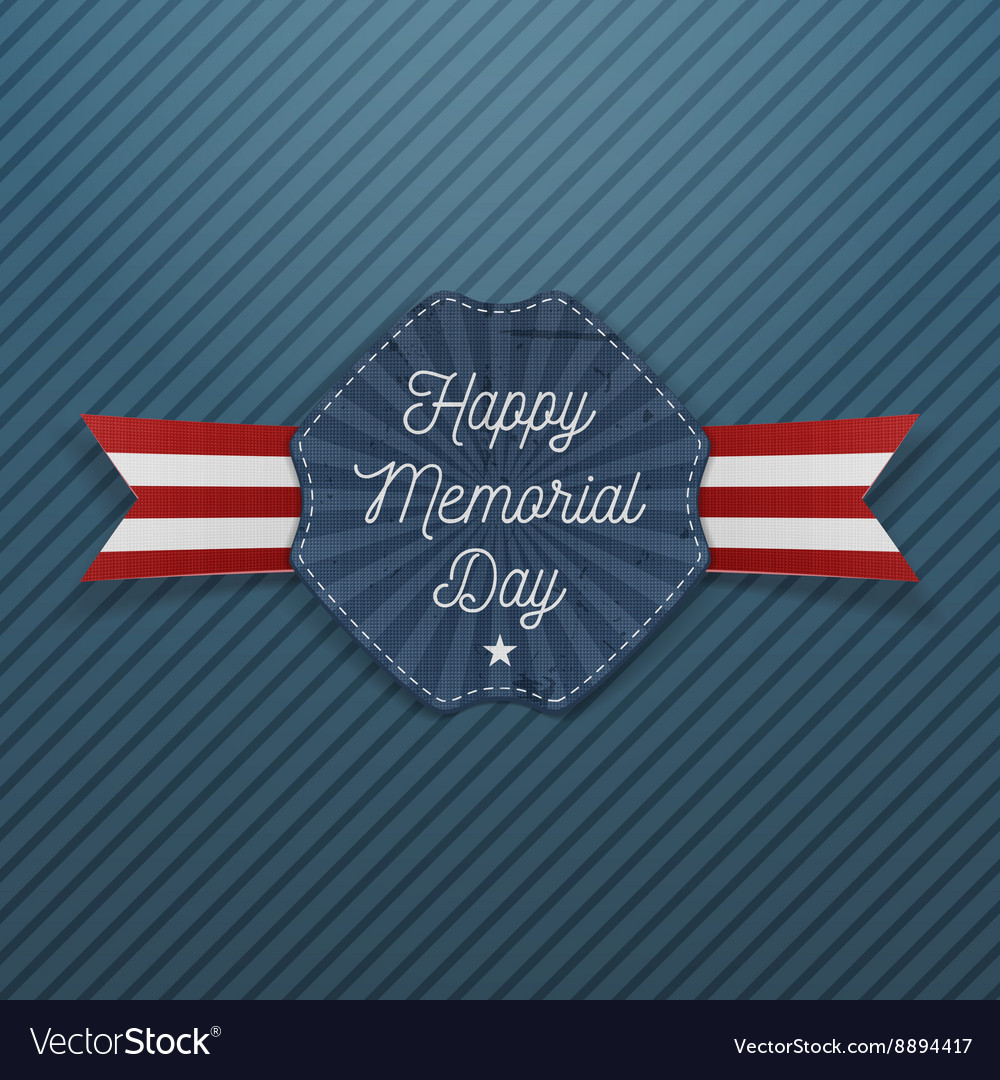 Happy Memorial Day national Emblem with Text