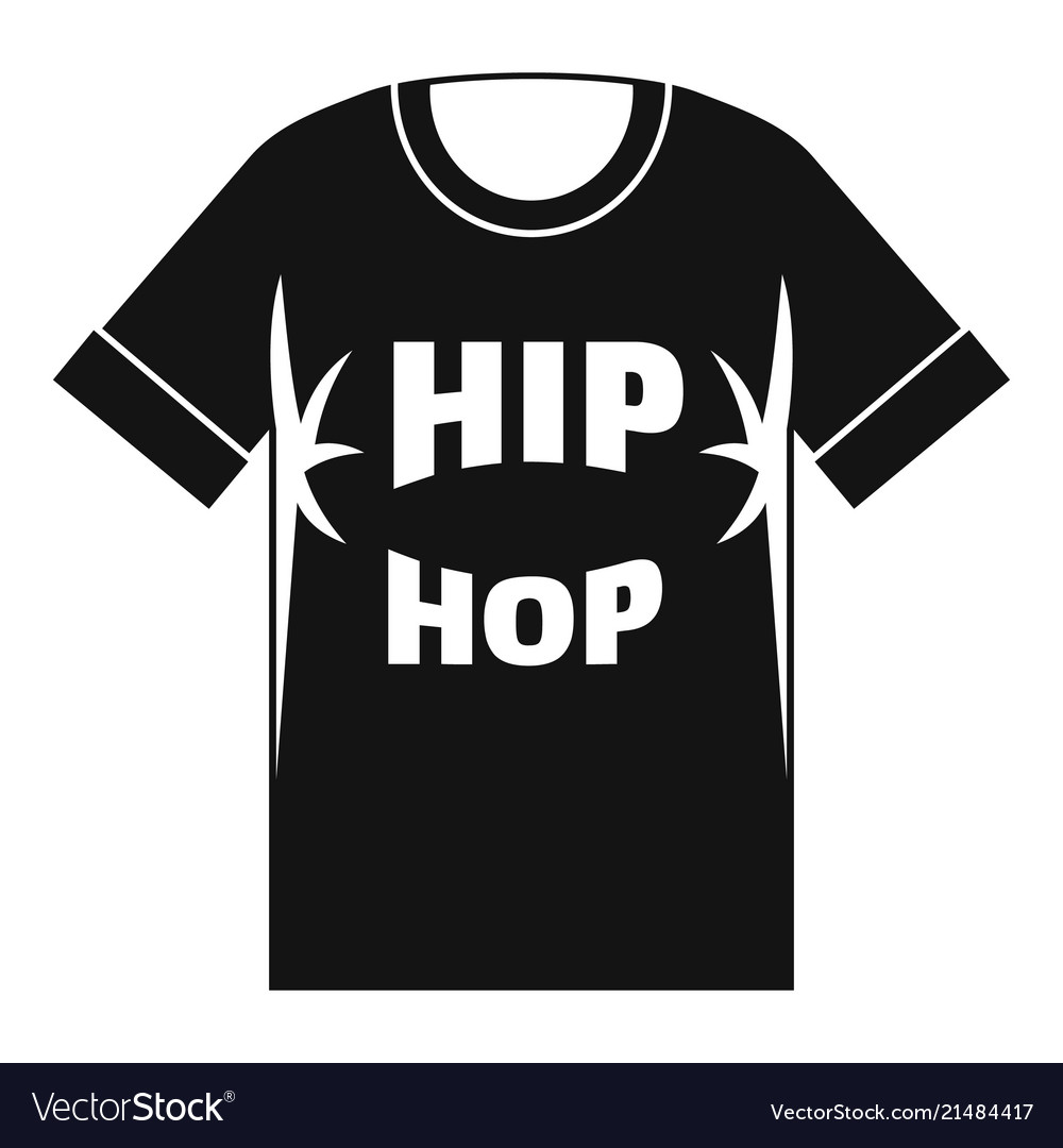 hip hop tshirt icon simple style royalty free vector image hip hop tshirt icon simple style