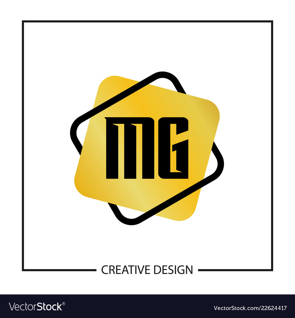 Initial Letter Mg Logo Template Design Royalty Free Vector