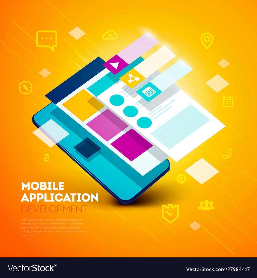 Layered user interface smartphone app development