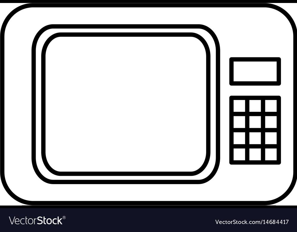 Microwave appliance electronic food line