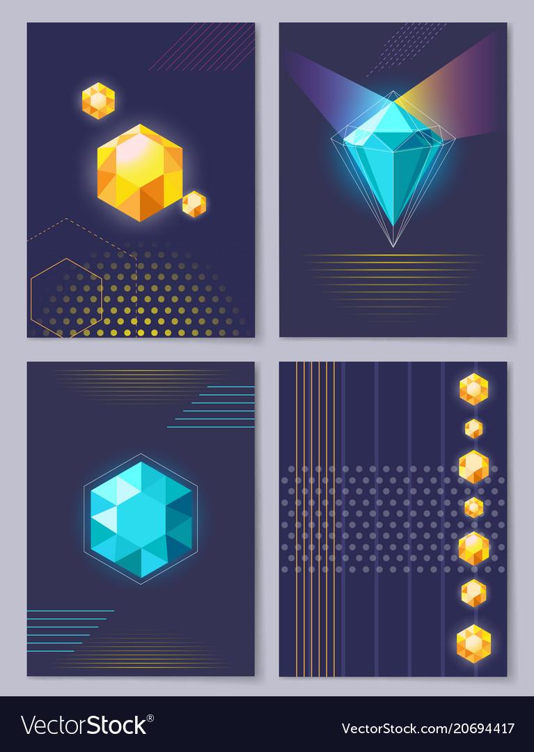 Set Of Wallpapers 3d Figures