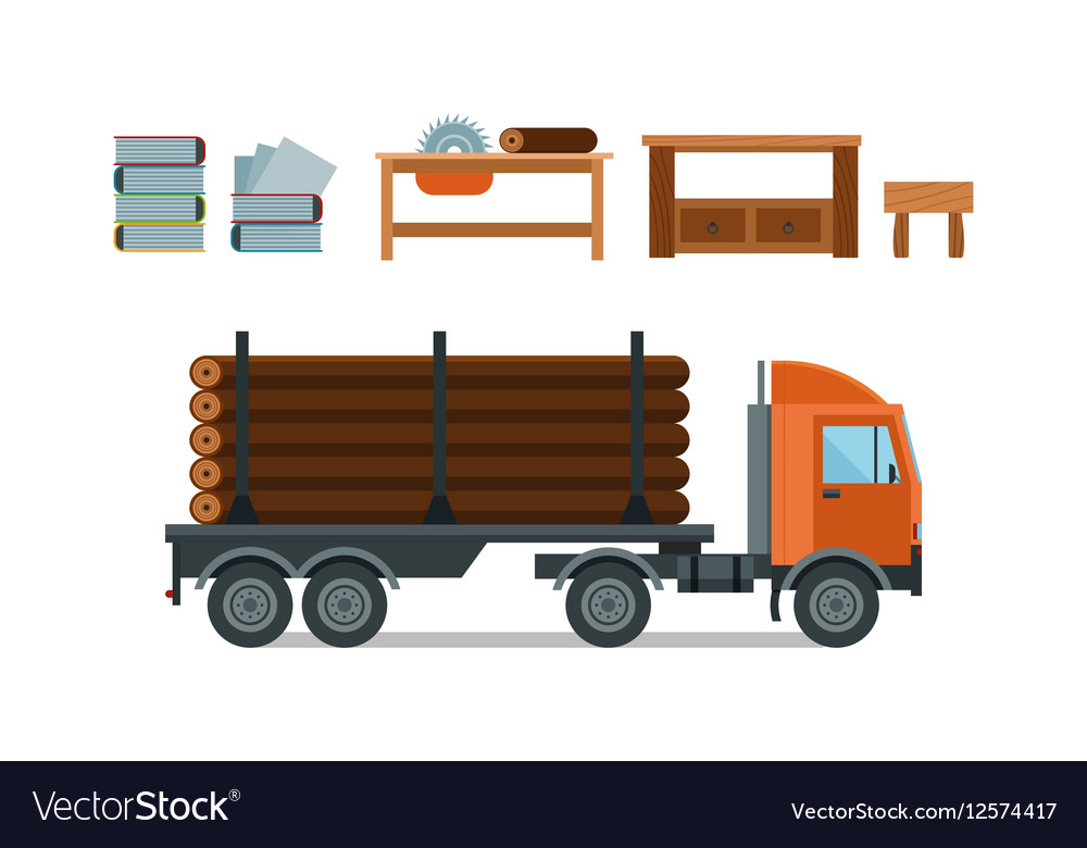 Woodworking cartoon tools icons