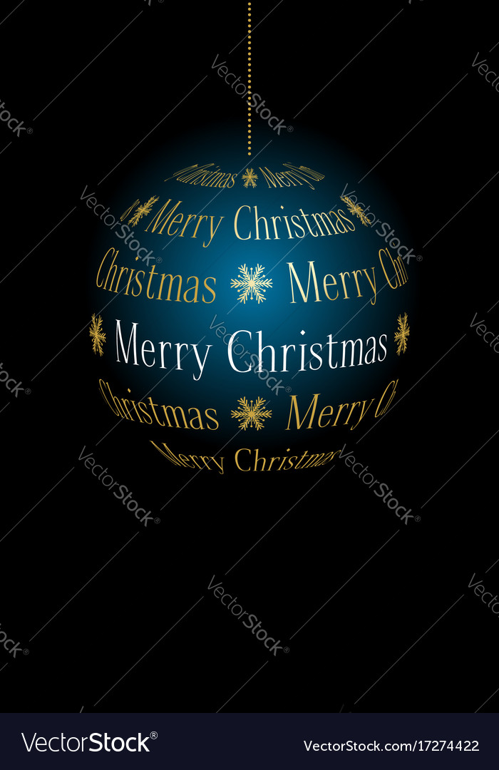 Abstract christmas ball from text merry christmas
