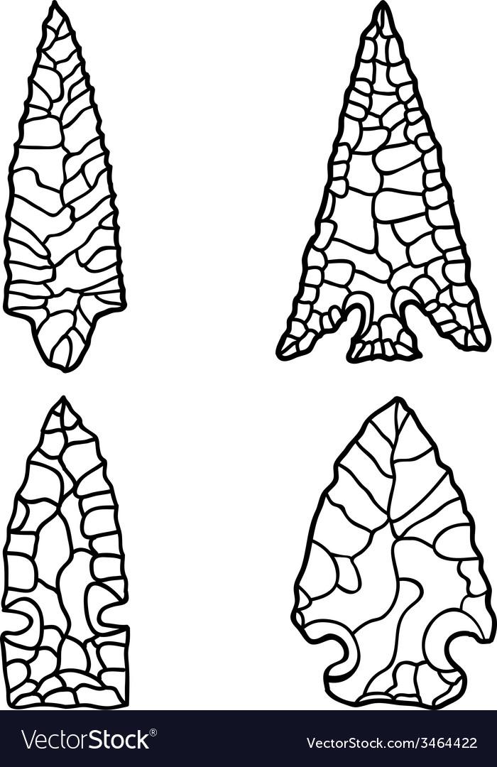 Arrowhead Drawings vector image