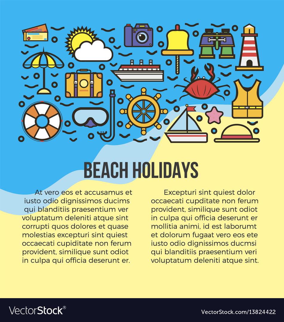 Beach holidays information banner