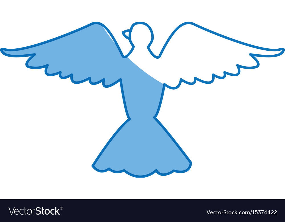 Bird Pigeon Freedom Peace Wings Open Royalty Free Vector