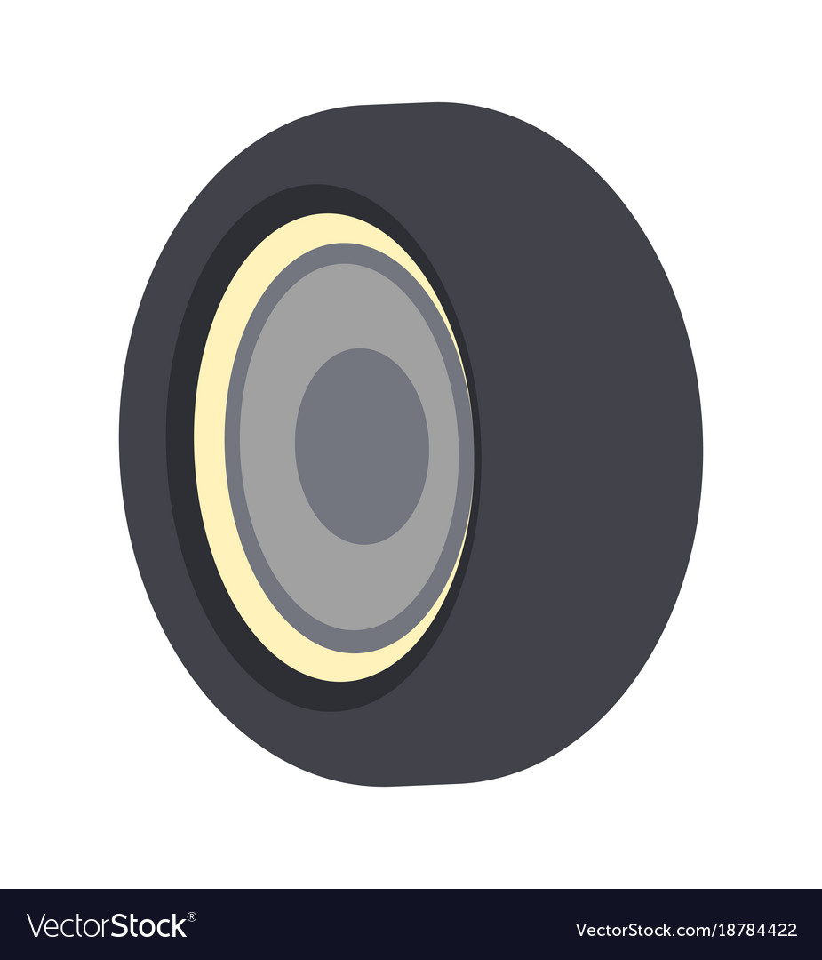 Bus wheel icon isolated icon vector image