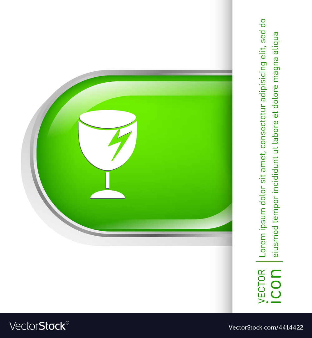 Fragile glass symbol logistics icon