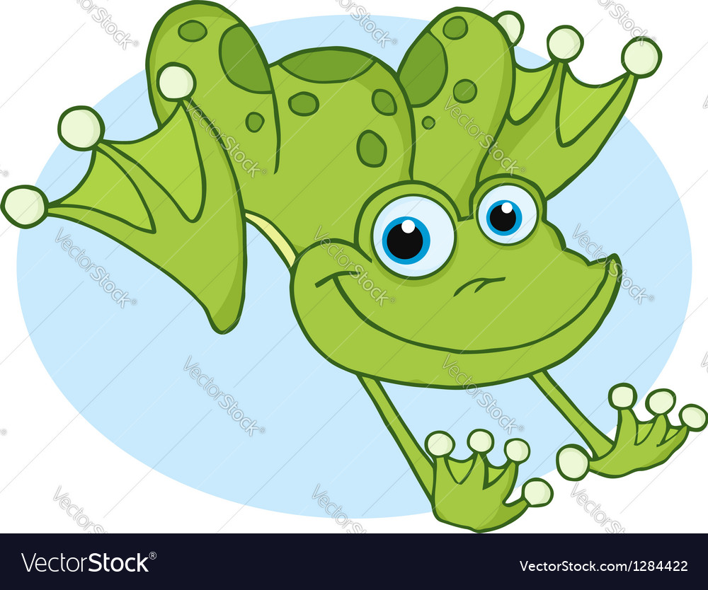 happy frog hopping frog royalty free vector image rh vectorstock com Hoppin' Frog Boris the Crusher Hop Like a Frog