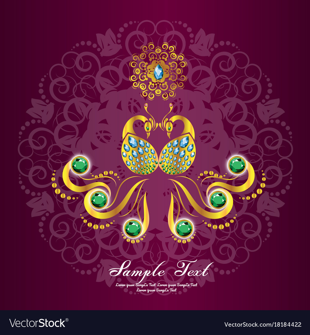Indian Wedding Card Or Invitations With Mandala