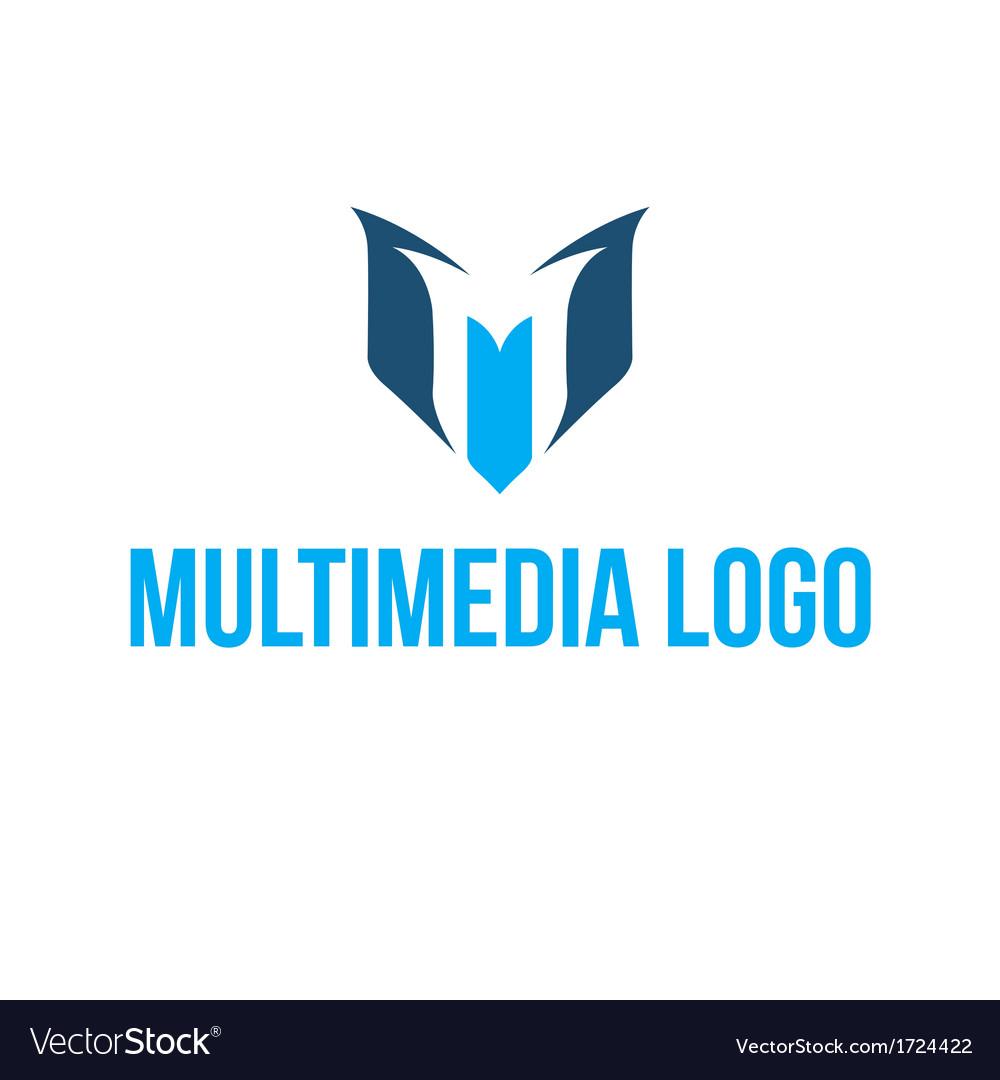 Multimedia logo vector image