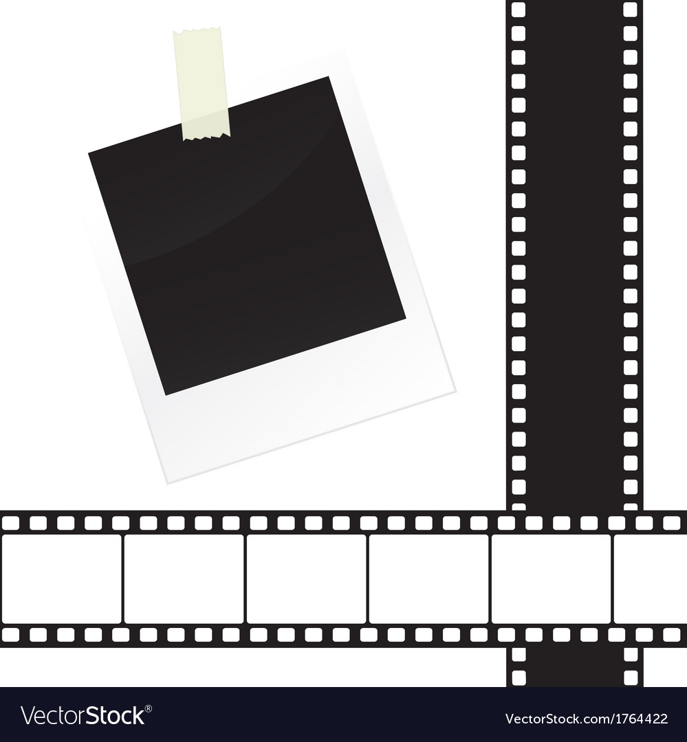 Photo frame sticker with tape and film strip frame