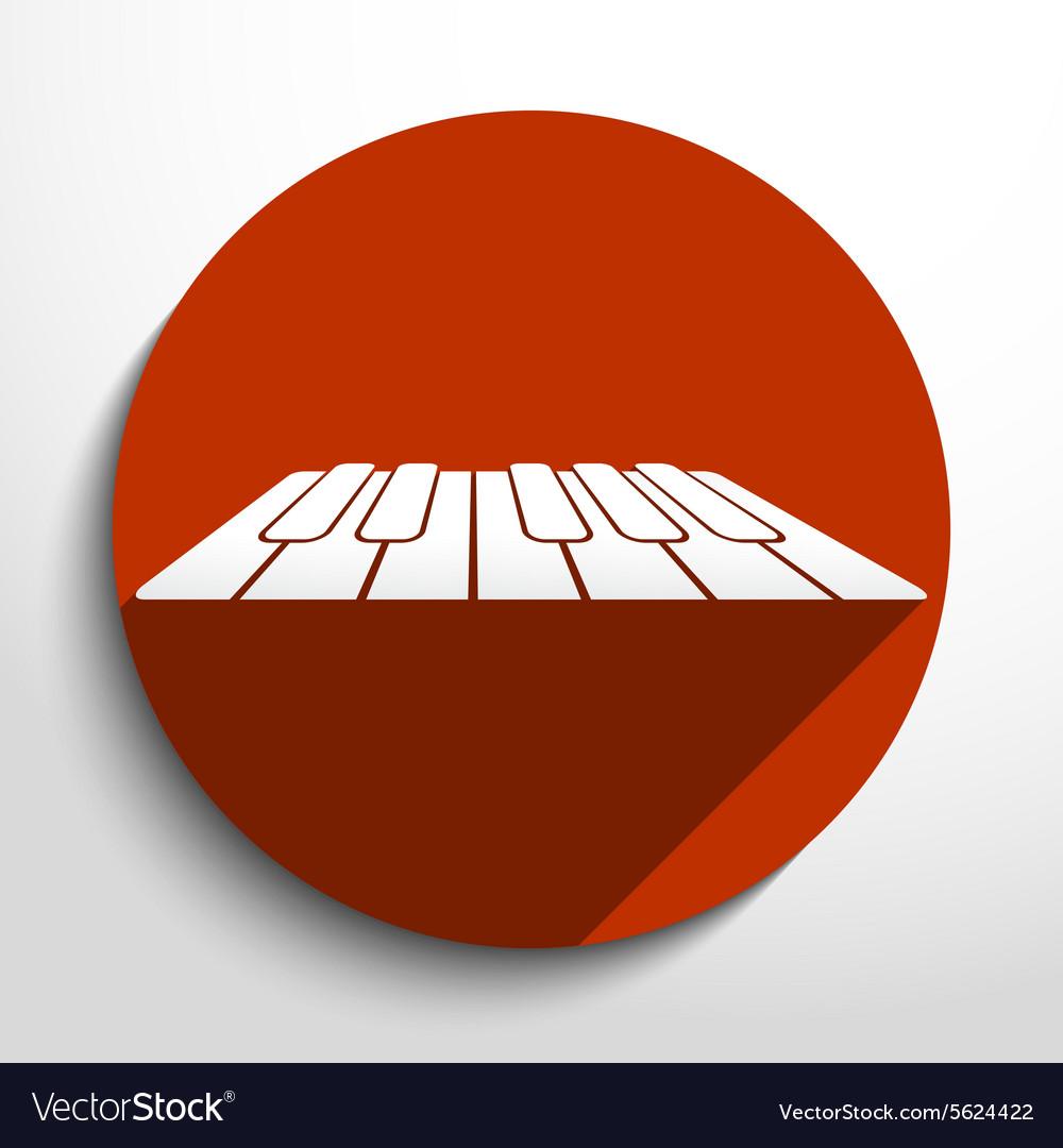 Piano keys web icon