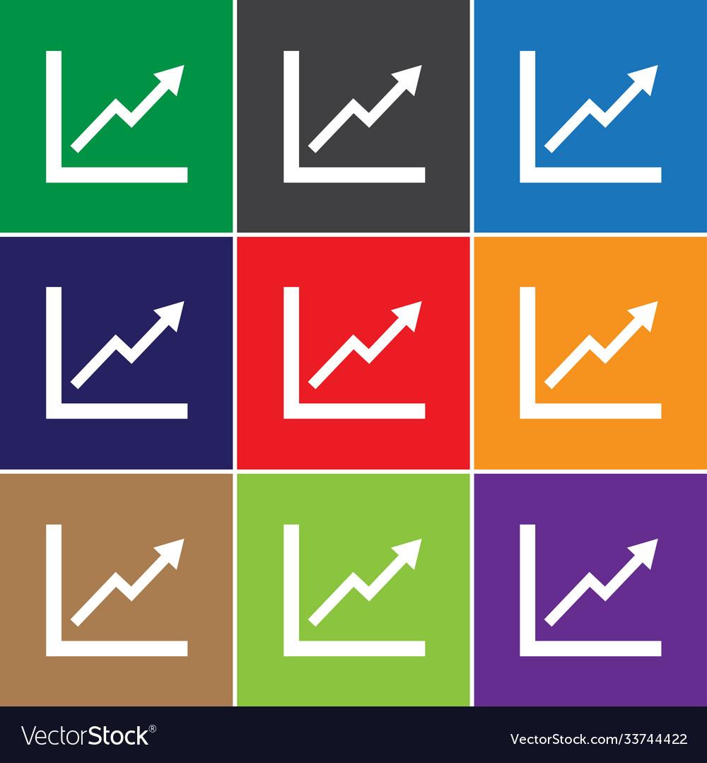 Statistic icon sign icon symbol flat