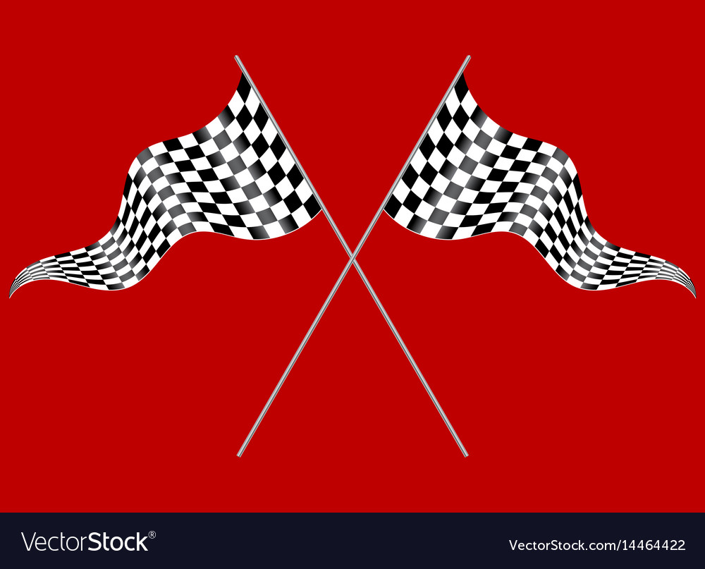 Two flags on a red background