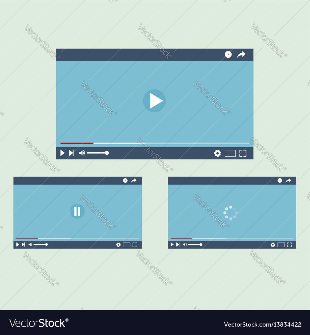 Video player interface l flat design